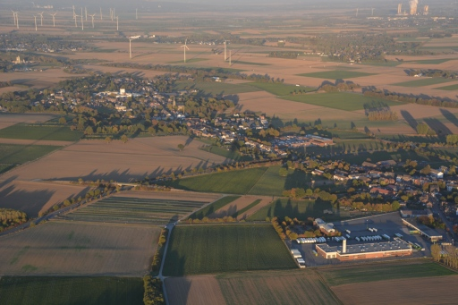 Linden-Neusen, in the background upper right power plant Weisweiler