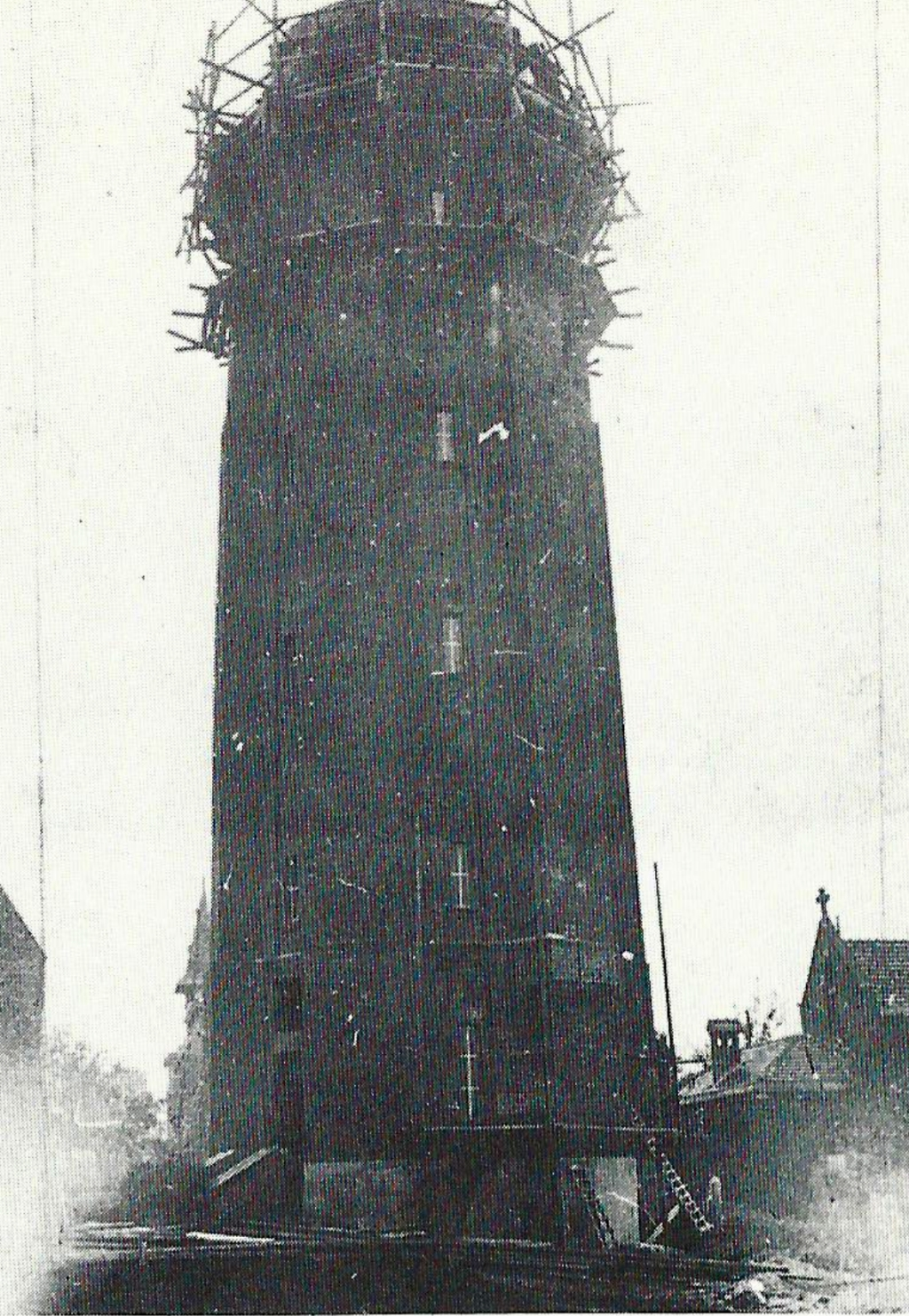 Construction of the water tower